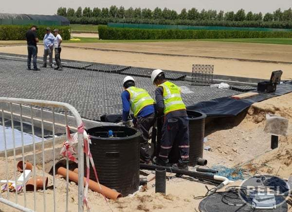 Water Control System made in Qatar for FIFA World Cup football game by Peel Pumps - Qatar FIFA World Cup Remote Water System Control