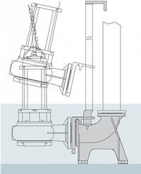 BBC DD65 Guiderail assemblies for Semisom Pumps Auto coupling